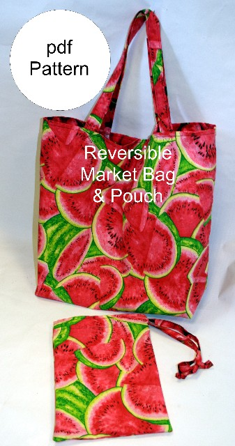 Reversible Market Bag & Pouch