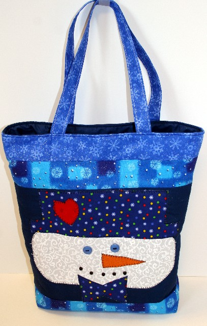 Heart to Heart Snowman tote